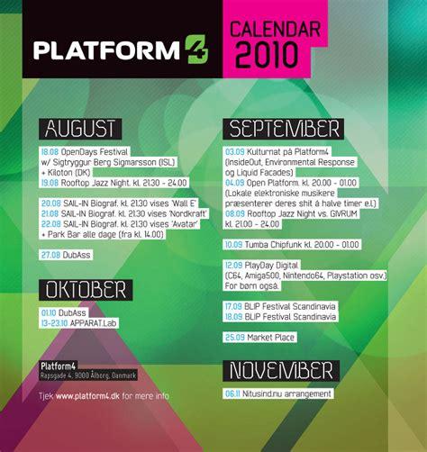 calendar flyer template platform4 calendar 2010 cynic design visuals static