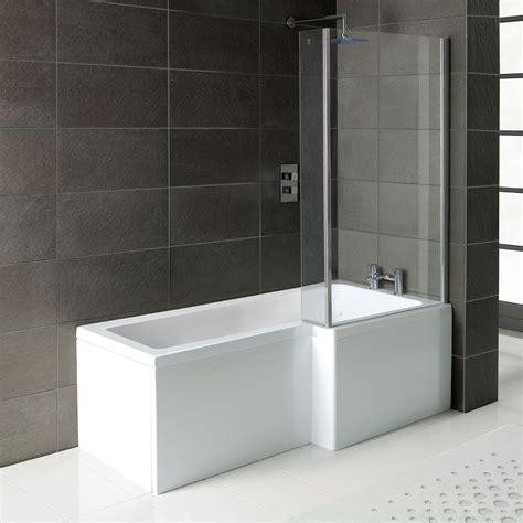 Bathroom Shower Bath Bathrooms Suite L Shape Bath Shower Square Toilet 600mm Vanity Unit With Basin Ebay