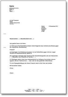 Musterbrief Beschwerde Nebenkostenabrechnung berufung gegen einen steuerbescheid de musterbrief