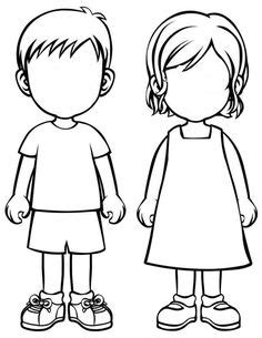 boy body coloring page paper doll accessories body template paper doll