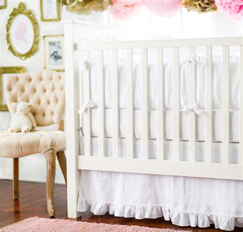 All White Crib Bedding Sets All White Crib Bedding White Out Project Nursery White