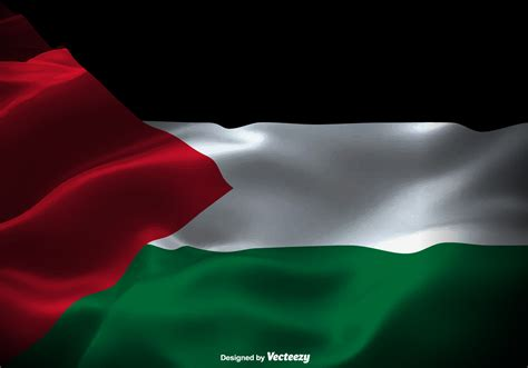 fim  vetor da bandeira da faixa de gaza