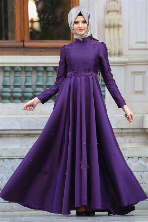 desain gamis simple elegan 16 desain modern model baju pesta muslim mewah dan elegan