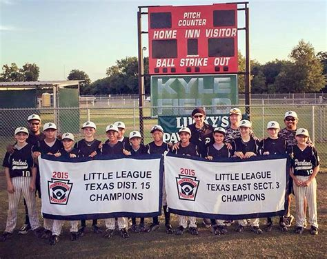 Pa League Sectionals by Pearland League Teams Capture District And
