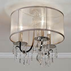 Black Chandelier With Clear Crystals Modern Glam Shaded Crystal Ceiling Light 3 Light Lamp