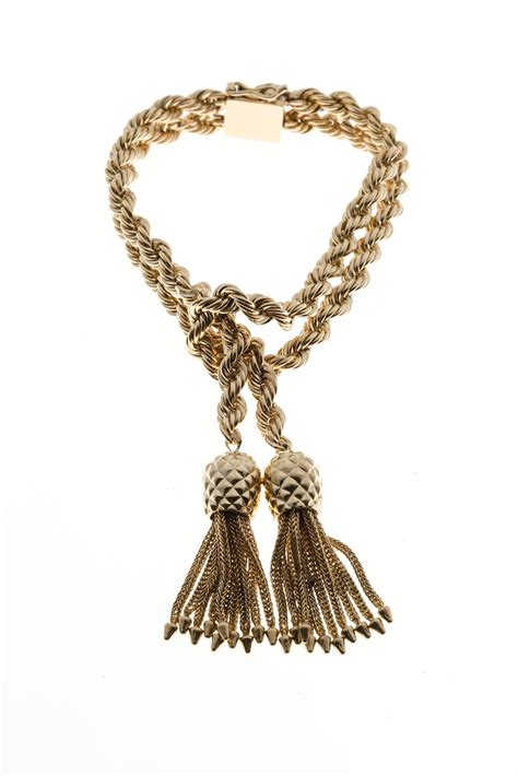 rope for jewelry and co rope knot tassel gold bracelet at 1stdibs