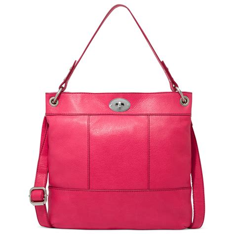 Tas Fossil Flamengo Shopper Bag fossil leather hobo in pink flamingo pink lyst