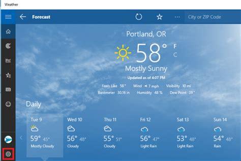Small Desktop Weather App How To Configure The Windows 10 Weather App