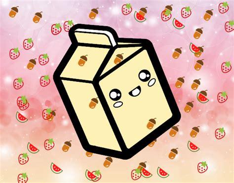 imagenes kawaii leche dibujo de la leche kawai pintado por en dibujos net el d 237 a