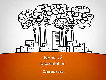 factory sketch powerpoint template backgrounds 11754