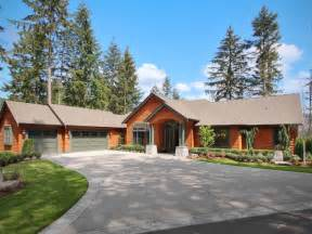 Sloped Lot House Plans Nw Craftsman Daylight Rambler