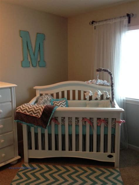 Aqua And Grey Crib Bedding Blush Pink And Aqua Crib Bedding With Chevrons And Grey In The Nursery Zig Zag Chevrons In The