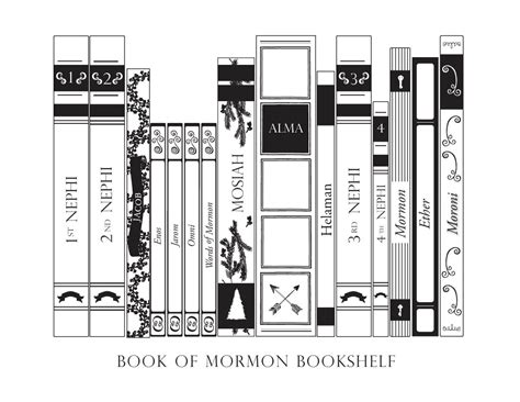 book of mormon bookshelf the mormon home