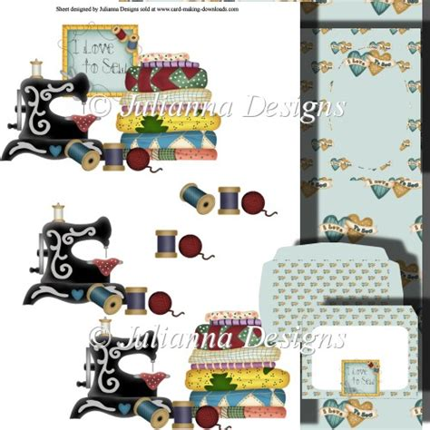 Free Decoupage Downloads For Card - i to sew decoupage set 163 1 00 instant card