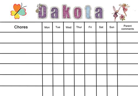 blank reward chart template the gallery for gt daily behavior chart