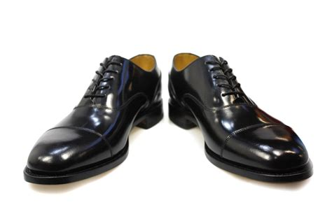 black oxford shoes loake mens 200b formal black oxford shoes polished