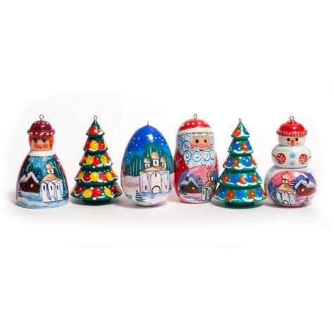 russian christmas motives ornaments set russina