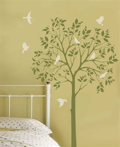 tree stencil for wall mural how to paint a tree mural the wall