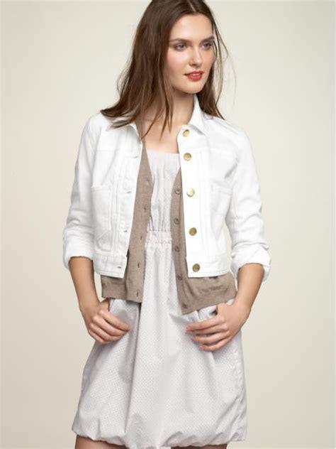 Gap White Denim Jacket style the new black may 2011