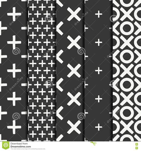 vector seamless pattern abstract background with round set of hand drawn geometric seamless ink pattern brush