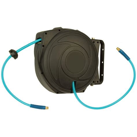 garden hose reel home depot self retracting garden hose