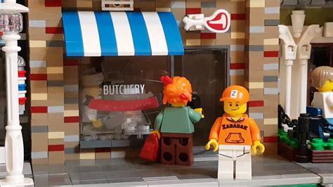 Lego Butcher Cap Lego Aksesoris a custom lego modular building of a butchery