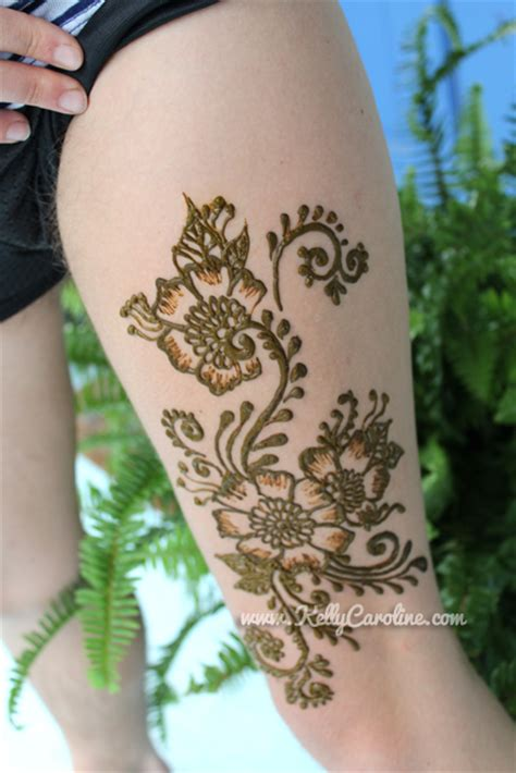 thigh henna tattoo henna on thigh