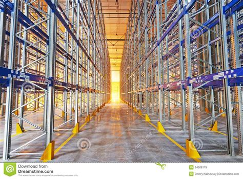 New The Rack by New Modern Warehouse Rack Royalty Free Stock Images