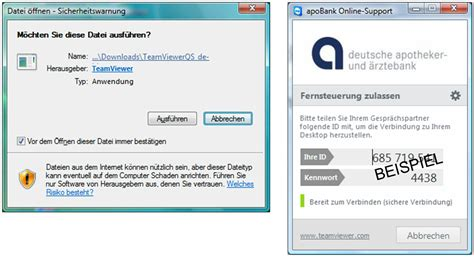 blz apo bank apobank support teamviewer