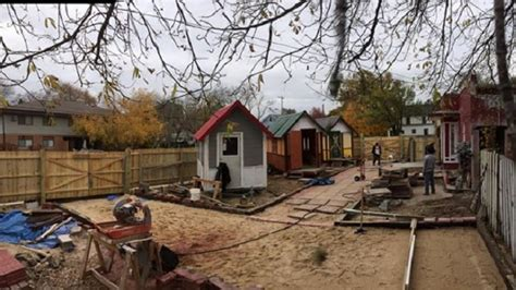 tiny houses for homeless occupy madison deserves props for building village of tiny houses for homeless
