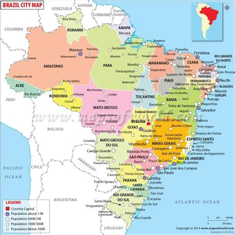map of brazil cities brazil cities map countries