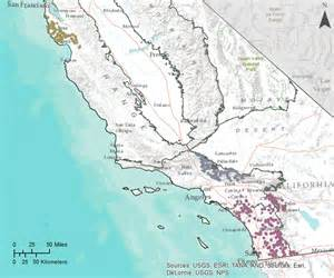 southern california mountain ranges map gama groundwater ambient monitoring and assessment