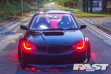subaru modified modified subaru impreza wrx fast car