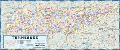 Tennessee Map With Cities And Towns by Tennessee Counties Wall Map Maps Com