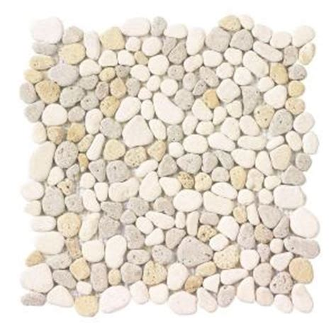 jeffrey court creama river rock mosaic 12 in x 12 in x 8