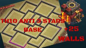 Clash of clans th10 quot new update quot anti 3 stars war base 275 walls