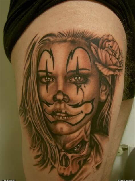 gangster tattoos 19 gangster clown images and designs