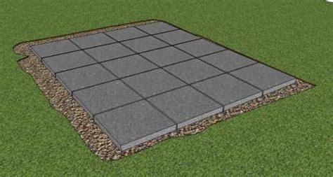 build  storage shed foundation  paving slabs
