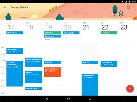 design calendar app android google calendar s update with material design is stunning