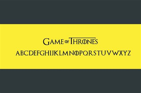 dafont game of thrones game of thrones font on dafont