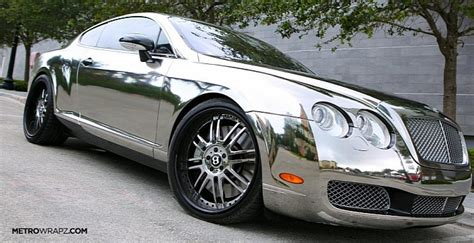 chrome bentley convertible chrome bentley by metro wrapz photo gallery