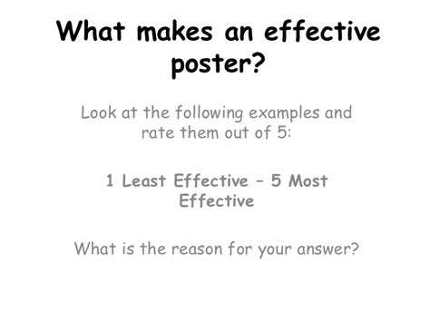what makes a good home what makes an effective poster