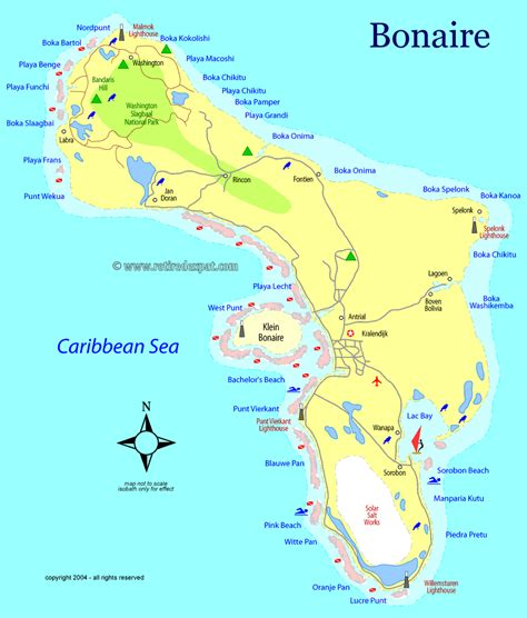 bonaire map travel to bonaire toursmaps