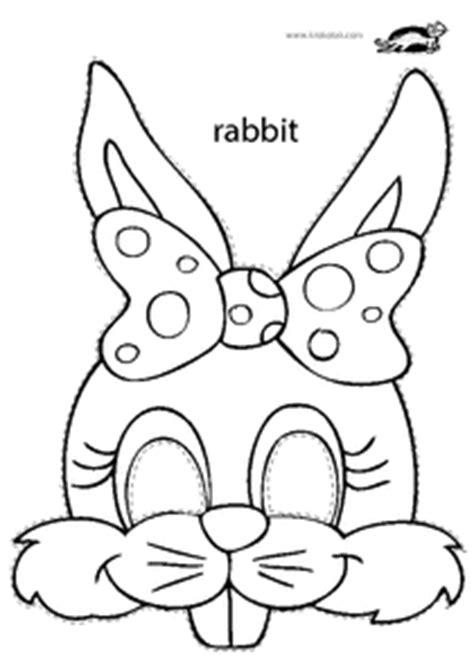 bunny mask coloring pages krokotak print printables for kids