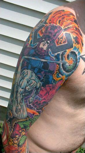 comic book sleeve tattoo designs great comic book tattoos kirby comic