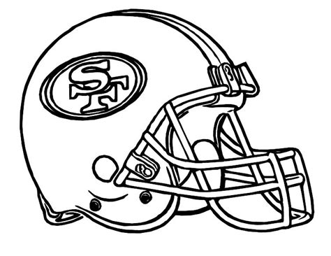 College Football Aufkleber Auf Helm by Football Helmet San Francisco 49ers Coloring Pages My