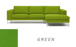 Simple Wood Bed Frame Biki Modern Corner Sofa Yellow Olive Green