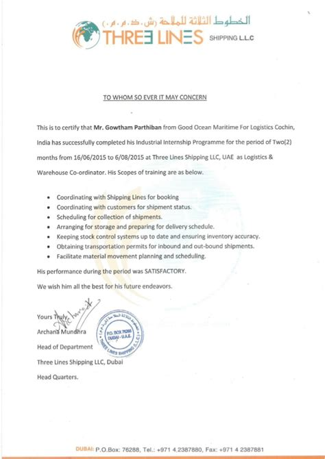 Experience Letter Of Quality Inspector My Dubai Experience Certificate
