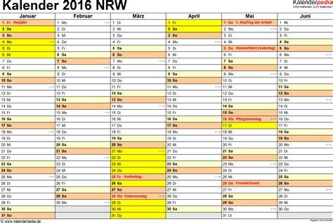 Kalender 2016 Druckversion Kalender 2016 Nrw Ferien Feiertage Pdf Vorlagen