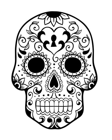 day of the dead skull coloring pages sugar skull coloring pages bestofcoloring
